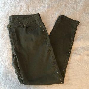 JLo embellished skinny jeans